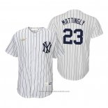 Maglia Baseball Bambino New York Yankees Don Mattingly Cooperstown Collection Primera Bianco