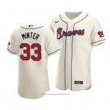 Maglia Baseball Uomo Atlanta Braves A.j. Minter Autentico Alternato Crema