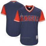 Maglia Baseball Uomo Los Angeles Angels Players Weekend 2017 Personalizzate Blu