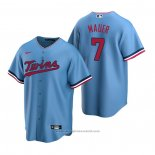 Maglia Baseball Uomo Minnesota Twins Joe Mauer Replica Alternato Blu