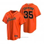 Maglia Baseball Uomo San Francisco Giants Brandon Crawford Replica Alternato Arancione