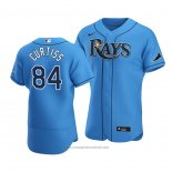 Maglia Baseball Uomo Tampa Bay Rays John Curtiss Alternato Autentico 2020 Blu