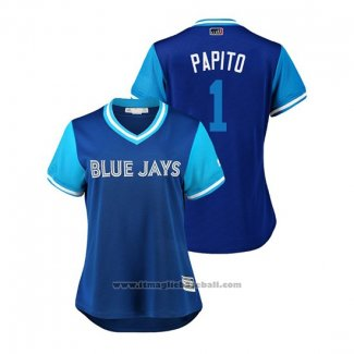 Maglia Baseball Donna Toronto Blue Jays Aledmys Diaz 2018 LLWS Players Weekend Papito Blu