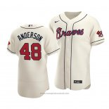 Maglia Baseball Uomo Atlanta Braves Ian Anderson Autentico Alternato Crema