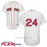 Maglia Baseball Uomo Boston Red Sox 24 David Price Bianco Autentico Collection Flex Base