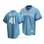 Maglia Baseball Uomo Kansas City Royals Danny Duffy Cooperstown Collection Road Blu