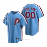 Maglia Baseball Uomo Philadelphia Phillies Personalizzate Cooperstown Collection Road Blu