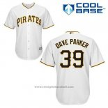 Maglia Baseball Uomo Pittsburgh Pirates Dave Parker 39 Bianco Home Cool Base