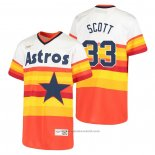Maglia Baseball Bambino Houston Astros Mike Scott Cooperstown Collection Primera Bianco