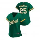 Maglia Baseball Donna Oakland Athletics Stephen Piscotty 2020 Replica Alternato Verde