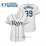 Maglia Baseball Donna Tampa Bay Rays Kevin Kiermaier Cool Base Home 2019 Bianco