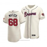 Maglia Baseball Uomo Atlanta Braves Tyler Matzek Autentico Alternato Crema