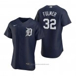 Maglia Baseball Uomo Detroit Tigers Michael Fulmer Autentico 2020 Alternato Blu