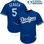 Maglia Baseball Uomo Los Angeles Dodgers 5 Corey Seager Cool Base
