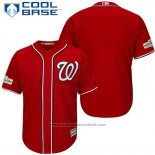 Maglia Baseball Uomo Washington Nationals 2017 Postseason Rosso Cool Base