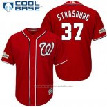 Maglia Baseball Uomo Washington Nationals 2017 Postseason Stephen Strasburg Rosso Cool Base
