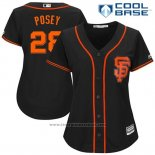 Maglia Baseball Donna San Francisco Giants 28 Buster Posey Nero 2017 Cool Base