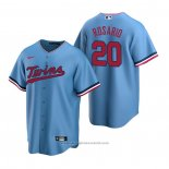 Maglia Baseball Uomo Minnesota Twins Eddie Rosario Replica Alternato Blu