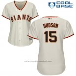 Maglia Baseball Donna San Francisco Giants San Francisco Tim Hudson Cool Base Crema