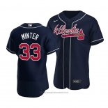 Maglia Baseball Uomo Atlanta Braves A.j. Minter Autentico Alternato Blu
