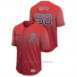 Maglia Baseball Uomo Boston Red Sox Mookie Betts Fade Autentico Rosso