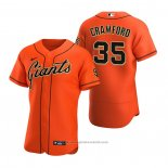 Maglia Baseball Uomo San Francisco Giants Brandon Crawford Autentico Alternato Arancione