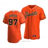 Maglia Baseball Uomo San Francisco Giants Jarlin Garcia Autentico Alternato 2020 Arancione